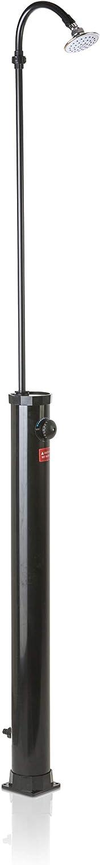 Gre AR1009 - Ducha Solar Exterior de PVC Negro, Capacidad de 9 Litros