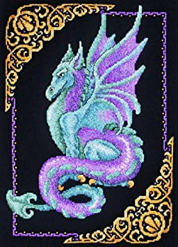 Janlynn 157-0010 Cross Stitch Kit, 15-Inch by 11-Inch, Mythical Dragon Picture