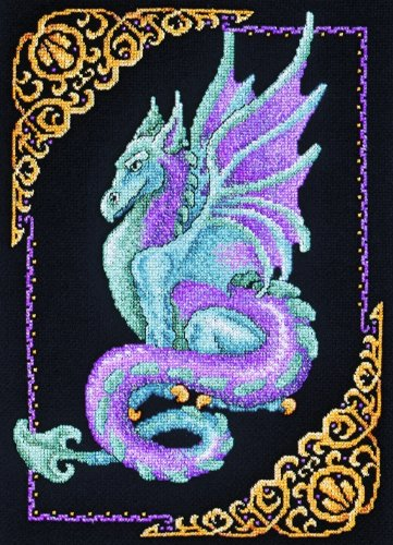 - Janlynn Cross Stitch Kit, 15-Inch by 11-Inch, Mythical Dragon Picture