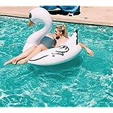 Beach Toy ® - Flotador gigante para piscina de Cisne Blanco, entrega ultra rapida