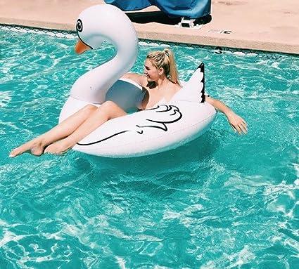 Amazon.com: Playa Juguete – Cisne Blanco flotador; 4 Pool ...