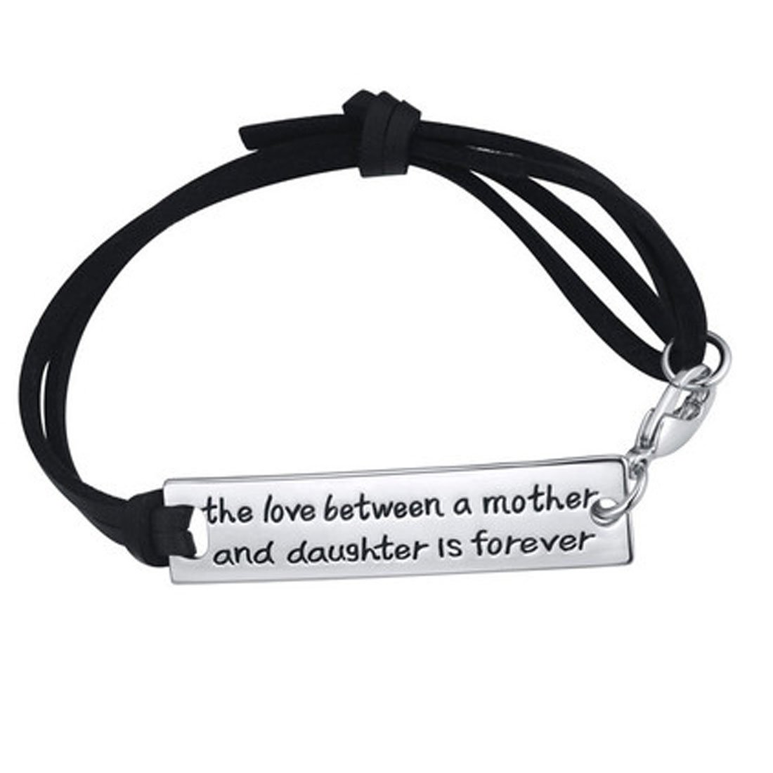 The Love Between a Mother and Daughter is Forever - Strap Bracelet Free Ship Deal
