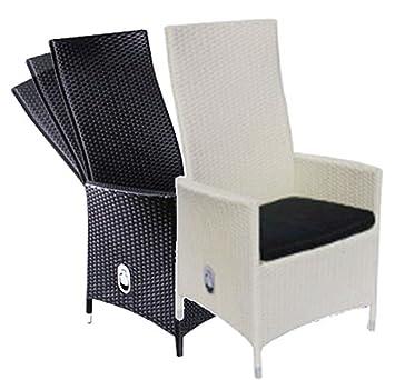 Polyrattan Sessel Rattan Hochlehner Positionsstuhl Mit Verstellbarer