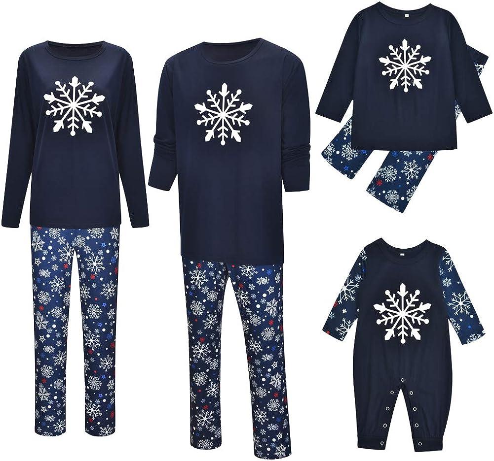 Herren M/ädchen Damen Jungen URMOSTIN Weihnachten Schlafanzug Familie Pyjama Set Zweiteilige Langarm Weihnachten Nachtw/äsche Nachthemd Karierte Homewear Pyjama Outfits Set f/ür Kinder