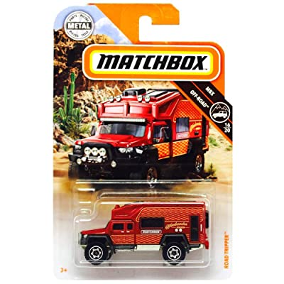 Matchbox 2020 MBX Off-Road Road Tripper (Camper) 70/100, Red: Toys & Games