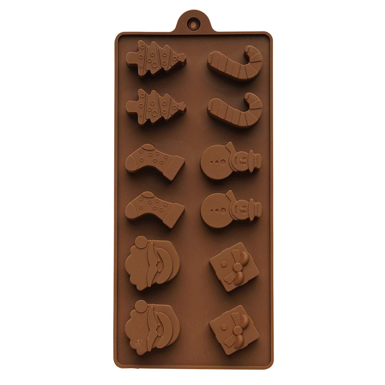 Moldes de Silicona - 39 Figuras de Chocolate Navideñas - Accesorio de Menaje para Navidad-Decoración para Temporada Festiva-Ideal para Fiesta y Celebración- ...