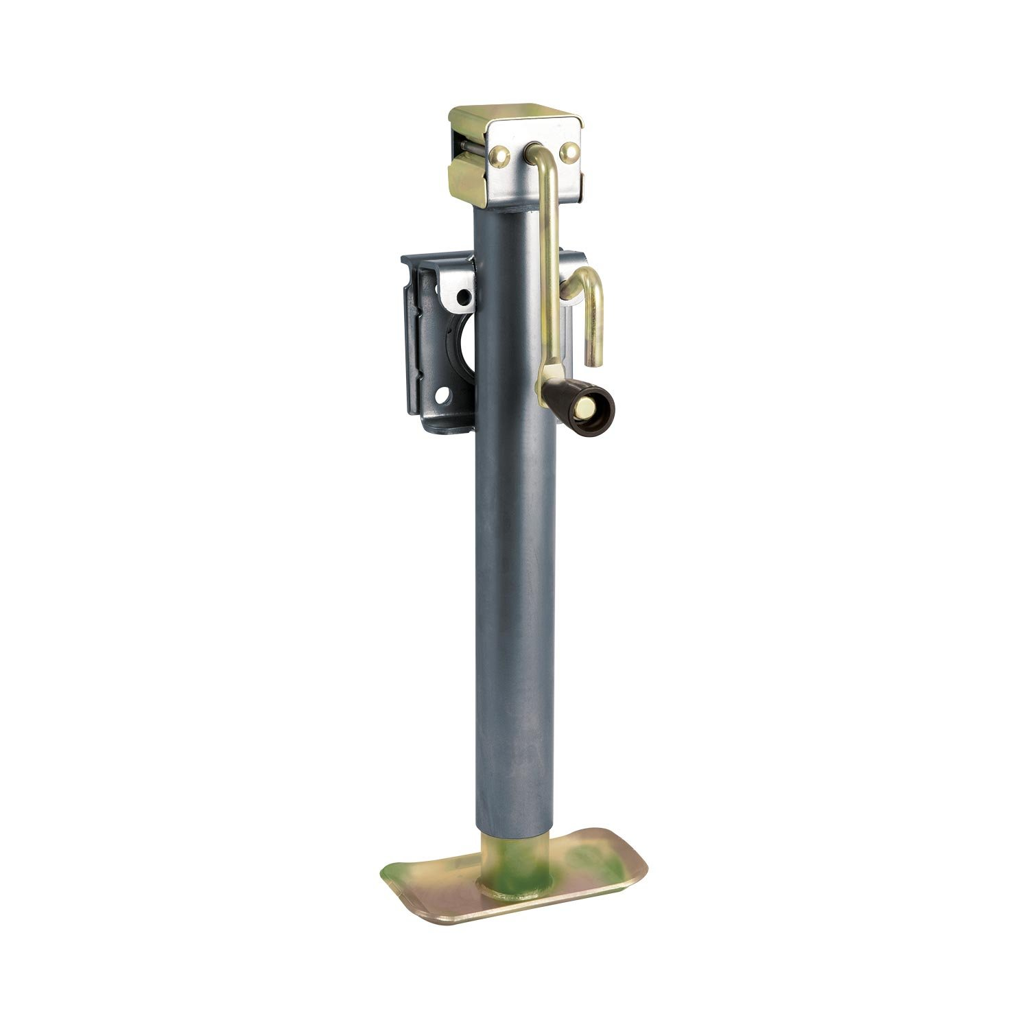 Koch Industries 4211025 Trailer Jack, Weld-On Swivel Flange Mount, 5,000-pound Lift Capacity, Sidewind, 15-inch Travel