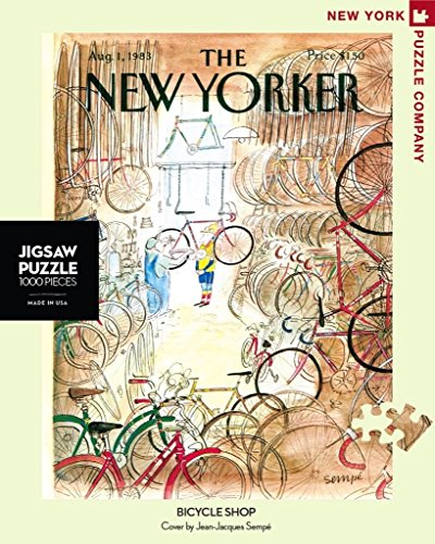 New Shop - New York Puzzle Company - New Yorker Bicycle Shop - 1000 Piece Jigsaw Puzzle