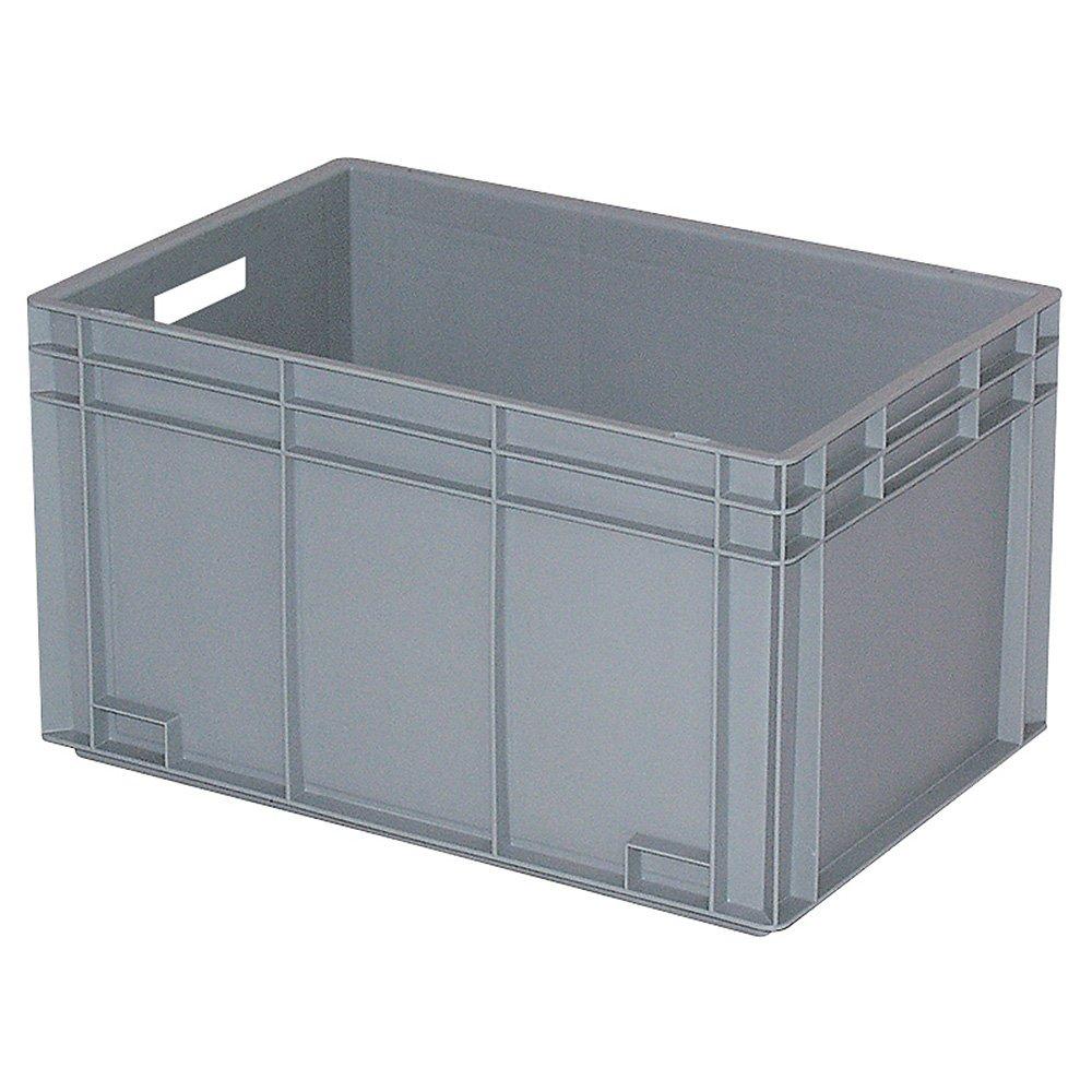 Eurobehä lter mit 2 Durchfaß griffen, LxBxH 600 x 400 x 420 mm, grau BRB