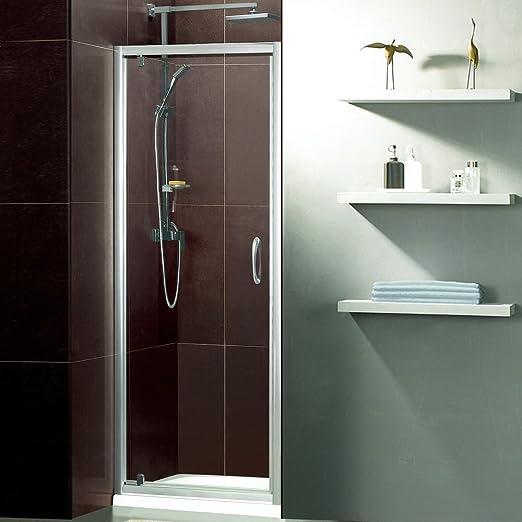 Trueshopping Mampara de ducha con puerta pivotante de vaivén con ...
