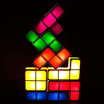 BAIVIN DIY Tetris Night Lights Rompecabezas Creativo ...