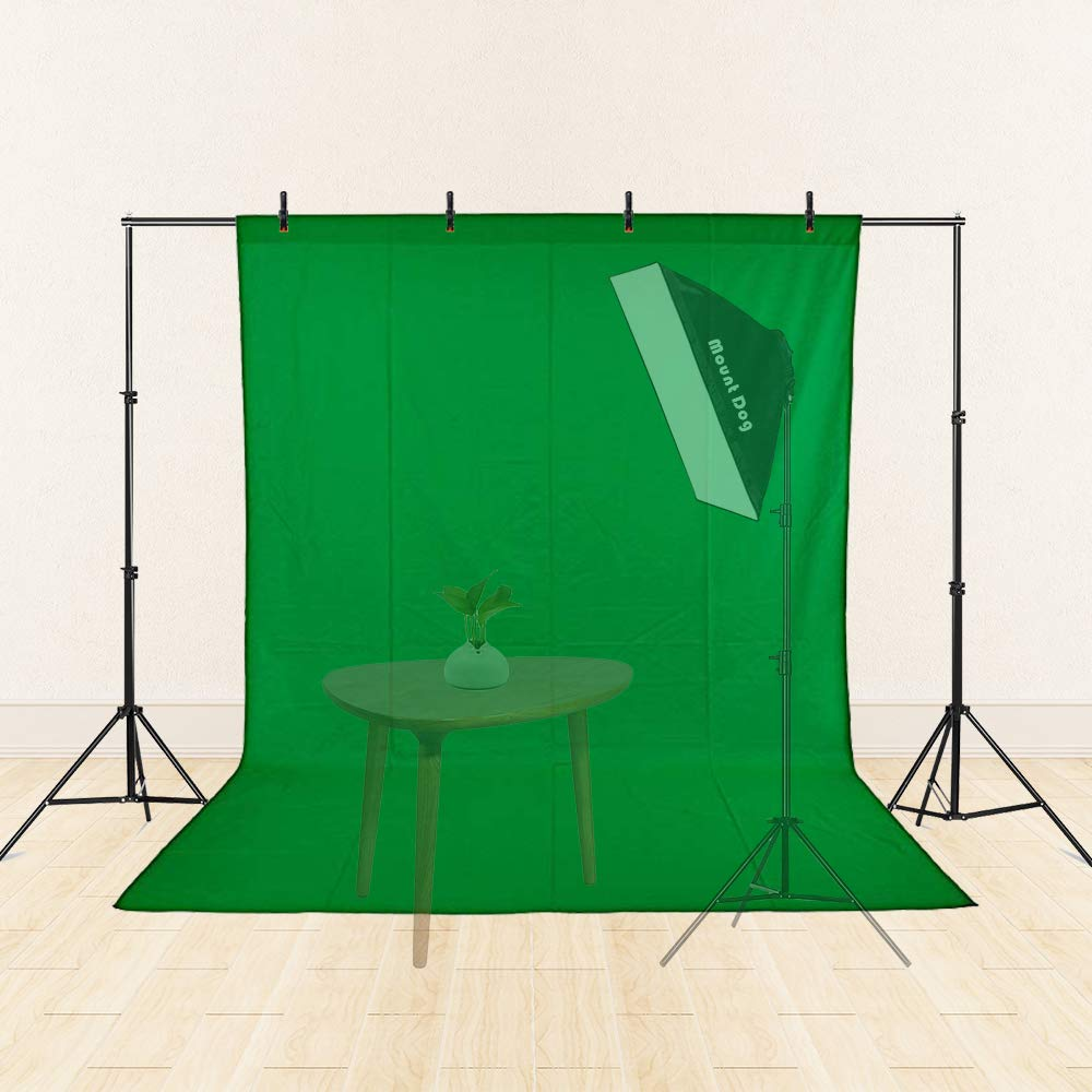 MOUNTDOG 6.5ftx10ft / 2M x3M Backdrop Support Stand Adjustable Photography Studio Background Support System Kit with Carrying Bag for Photo Video Shooting by MOUNTDOG (Image #2)