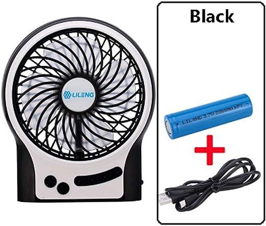 Fengbingl-hm Abanico movil Ventilador accionado por USB ...