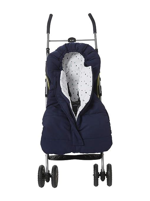 VerTBAUDET - Saco de abrigo para bebé, resistente a la intemperie azul marine Talla: