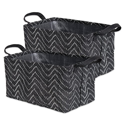 DII Heavy Duty Woven Paper Rectangle Laundry Basket, Perfect In Your Bedroom, Nursey, Dorm, Closet, 16 x 12.5 x 9.5