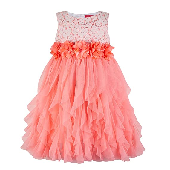 Toy Balloon Kids Orange Water Fall Girls Party Dress: Amazon.in ...