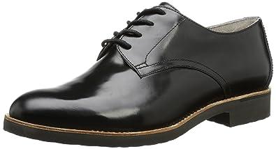 Rockport Women s ALANDA PLAIN DERBY Lace-Up Flats black Size  9 UK ... 0f1ab68ae50f
