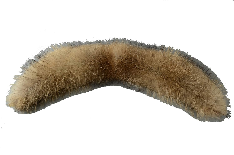 Ferand - Bufanda Estola del Cuello de Piel de Mapache Real, Desmontable Y Cálido, Ideal para Chaqueta de Abrigo en Invierno - Mujer