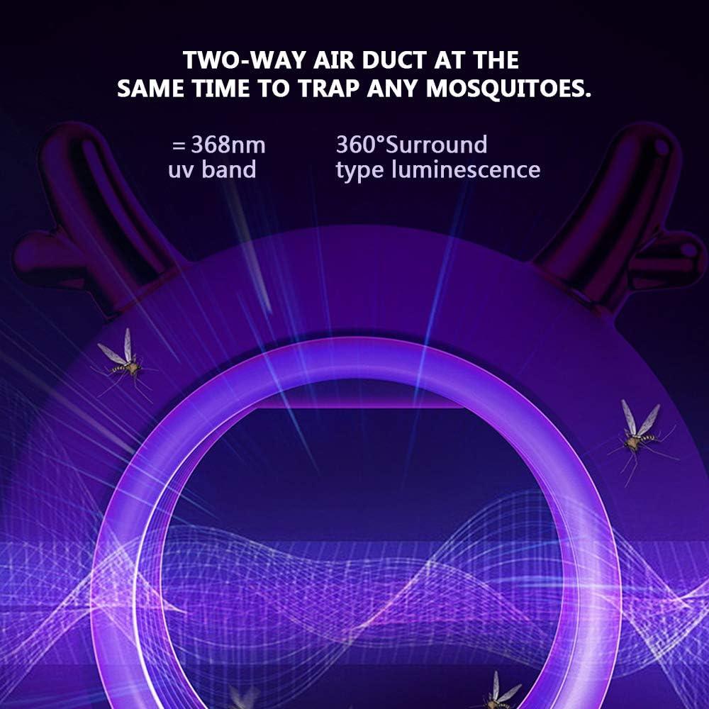 PECHTY L/ámpara Antimosquitos Independiente Mata Mosquitos el/éctrico Trampas para Insectos Mosquit para Cocina Sala de Estar Dormitorio Oficina UV L/ámpara Anti Mosquitos