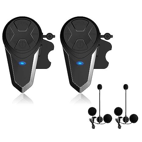 Lemnoi BT-S3 Intercomunicador Casco Moto, Intercomunicador Bluetooth para Moto Manos Libres Radio FM