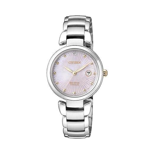 Citizen. Super Titanium. Reloj Solo Tiempo para mujer EW2506 - 81Y: Amazon.es: Relojes