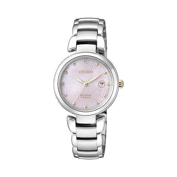 cffde1448c12 CITIZEN orologio Solo Tempo Donna SUPER TITANIUM EW2506-81Y: Amazon.it:  Orologi