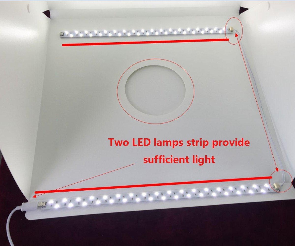 Mini Tragbares Fotostudio Schießzelt Jhs-tech Kleine Faltbare Led Lichtbox Sof Fotostudio-zubehör