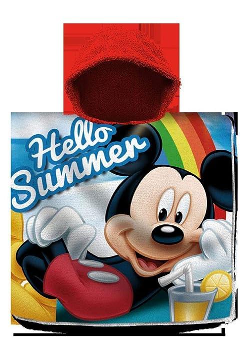 Mickey Mouse Poncho Toalla Playa Algodon 120X60Cm De Mickey ...