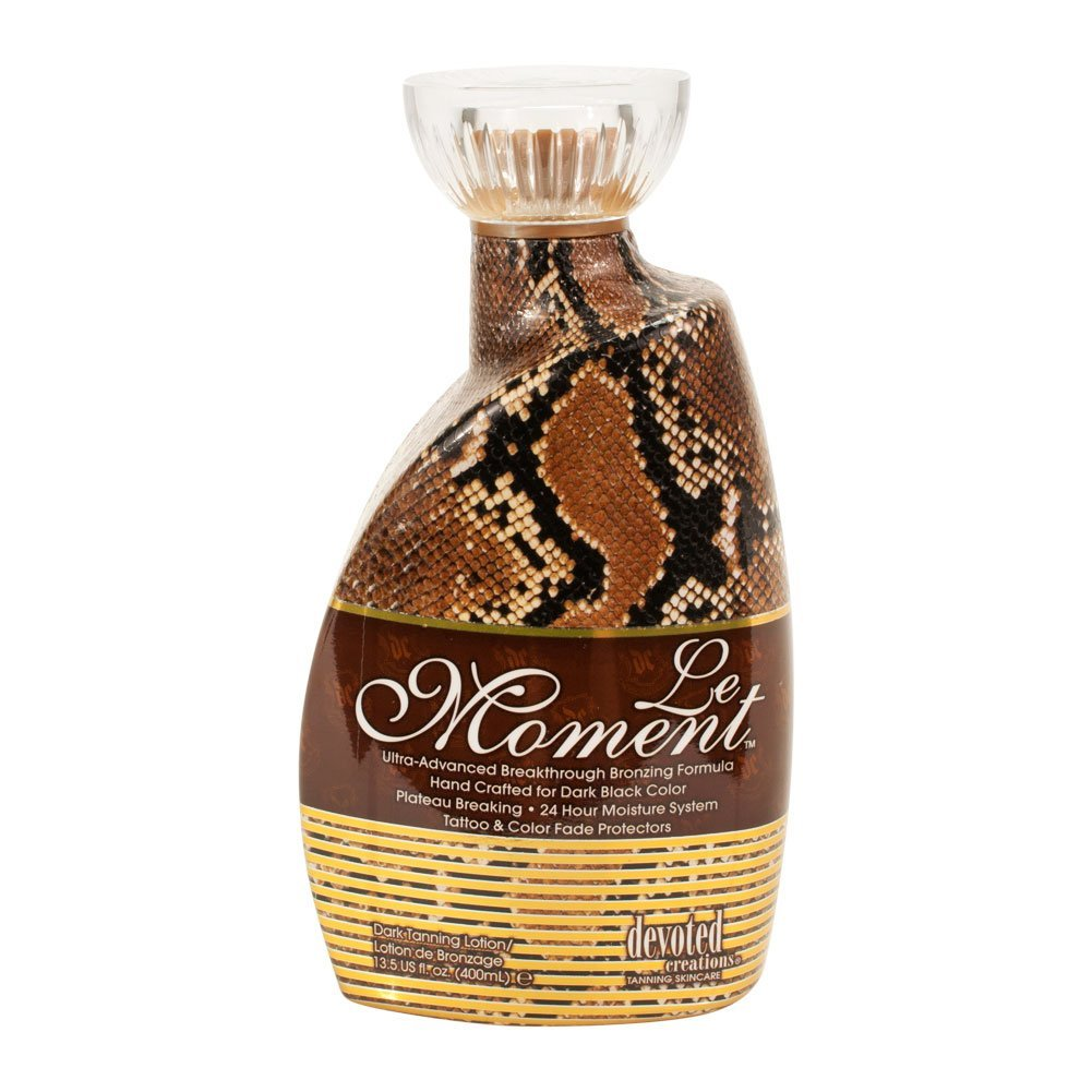 Devoted Creations LE MOMENT Bronzing Tanning Bed Lotion, 13.5 ounces by Devoted Creations