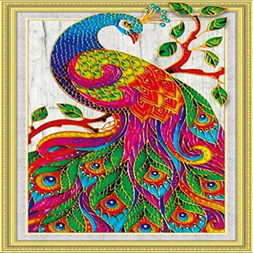 Chenway DIY 5D Partial Drill Cross Stitch Kits,Multicolor Crystal Rhinestone Painting Diamond Cross Stitc Arts Craft Special Shaped Diamond Painting (E) -