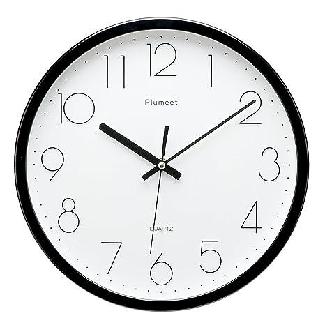 Reloj de pared de tictac silencioso de 30,48 cm con diseño moderno y clásico