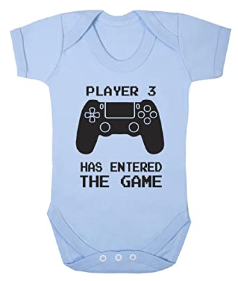 0ca17cb6cd7 Player 3 has Entered The Game Controller Cute Funny Babygrow Bodysuit