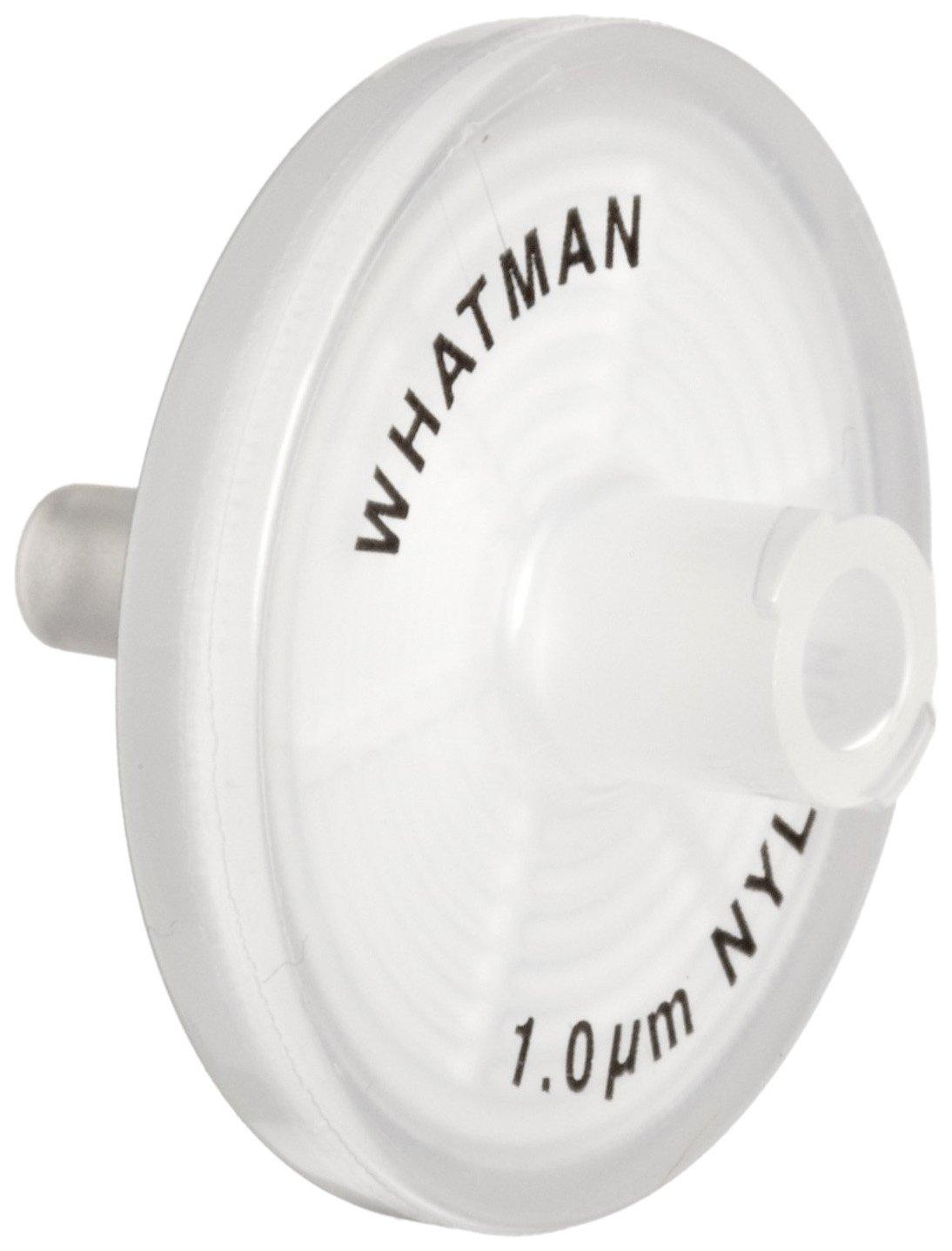 Whatman 6750-2510 Nylon Puradisc 25 Syringe Filter, 1.0 Micron (Pack of 50) by Whatman