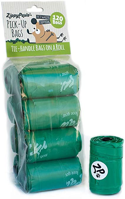 Pack of 120 OUT strong and Leakproof Green Dog Poop Pick-Up Bags