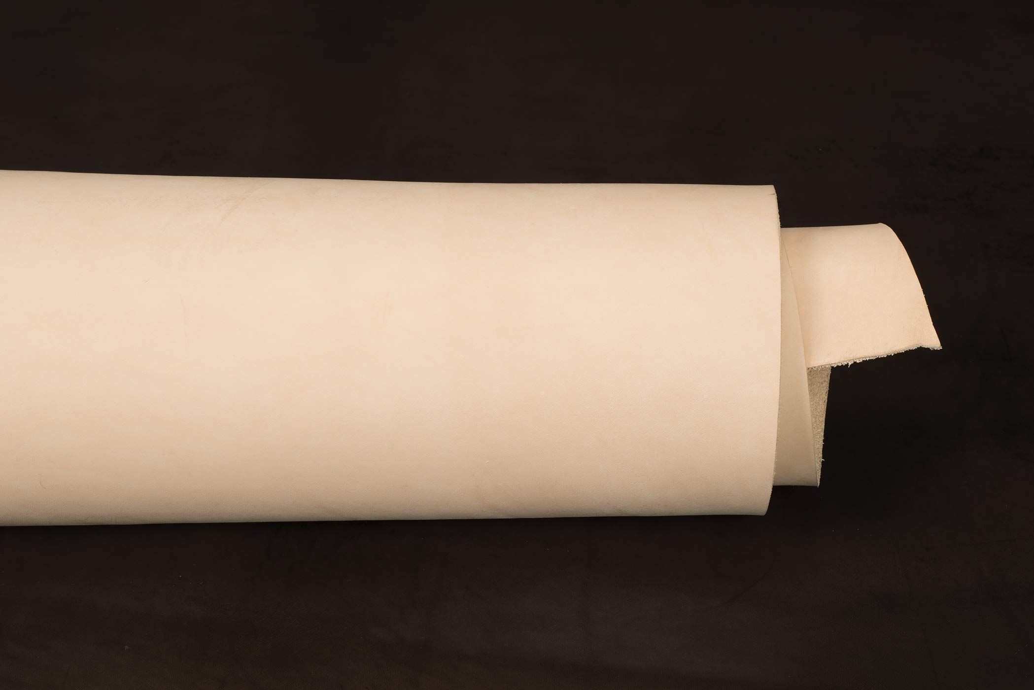 Veg Tanned Double Shoulder, Natural, 10 to 11 oz.