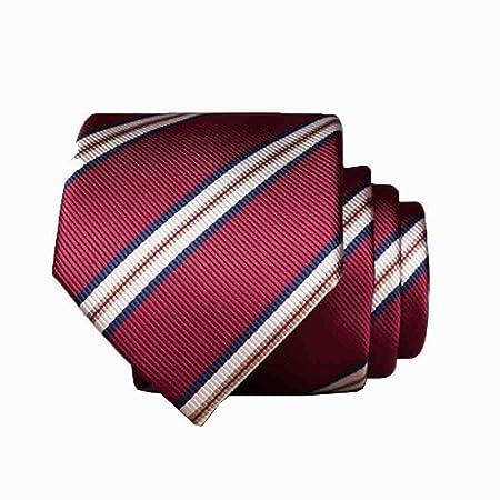 Hjyi Corbata de Vestir para Hombre, Elegante Corbata roja a Rayas ...