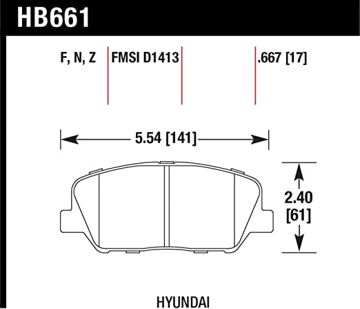 Hawk Performance HB661N.667 HP Plus Disc Brake Pad Front