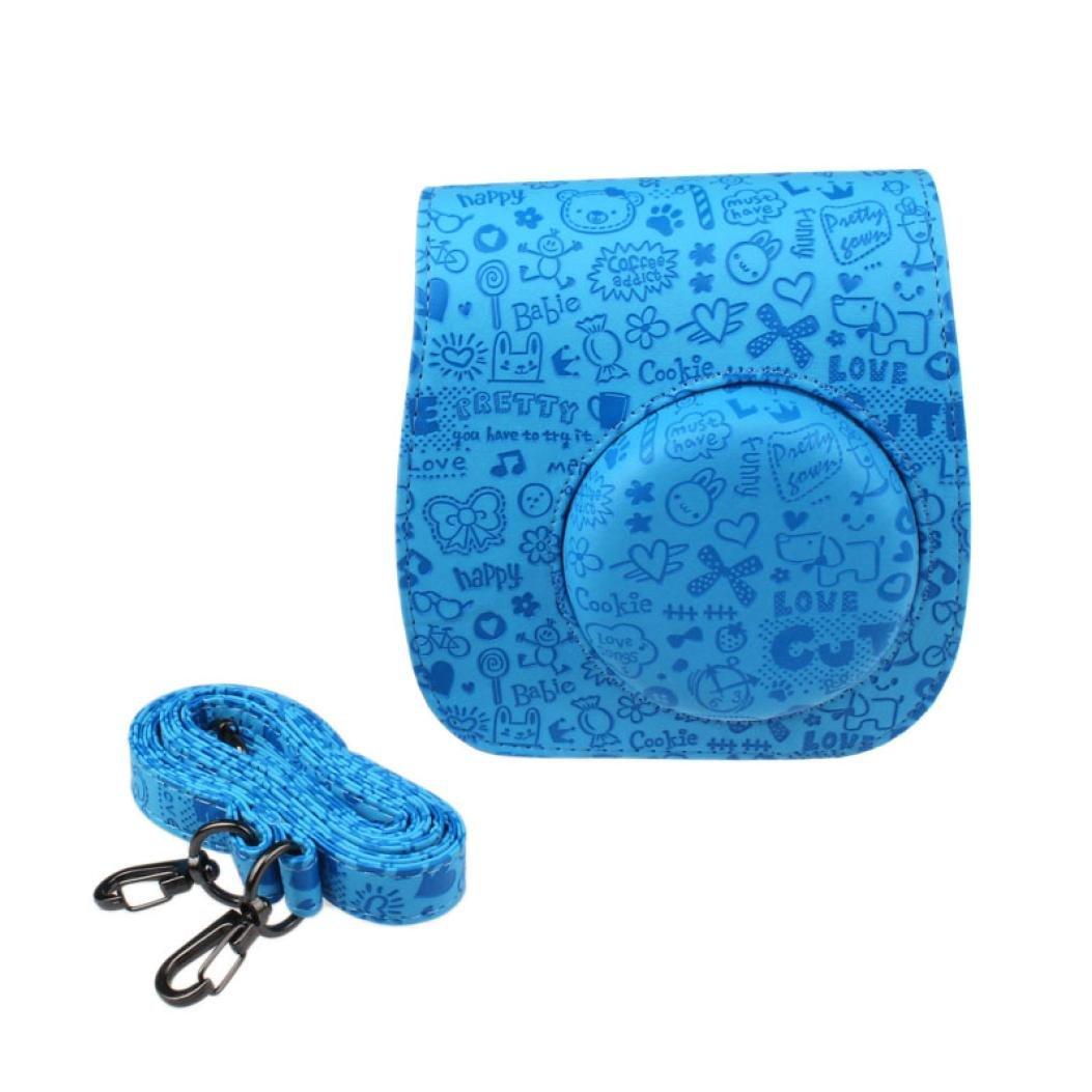 Susenstone® Emboss Rose PU Leather Camera Case Bag For FUJIFILM Instax Mini8 Mini8s