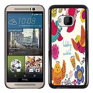 Dragon Case - FOR HTC One M9 - Penny wise and pound foolish - Caja protectora de pl??stico duro de la cubierta Dise?¡Ào Slim Fit
