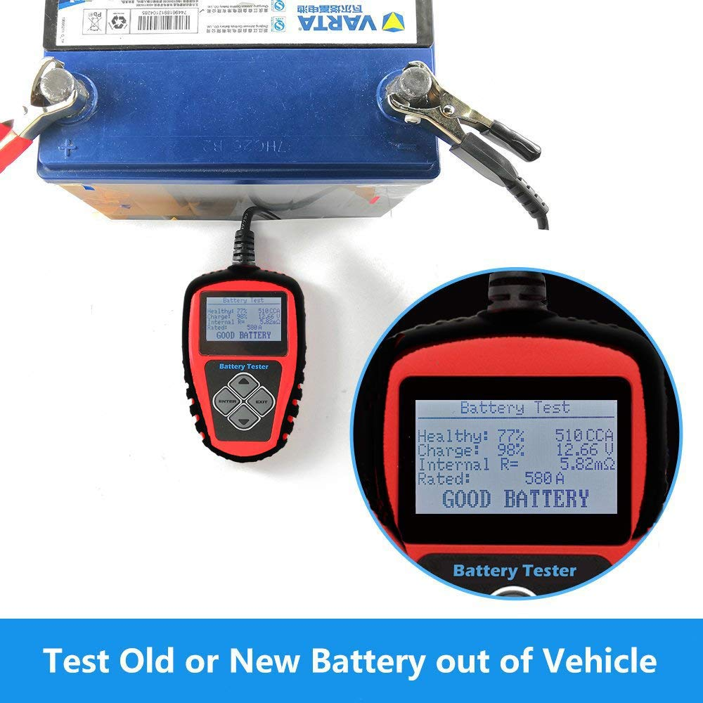 [Upgraded Version] Roadi 3 in 1 auto Battery Tester, Alternator& Starter Tester Compatible for 12V Domestic & Imported Car/Truck - Accurate Test with Professional User Manual & Protective case. by Roadi (Image #4)