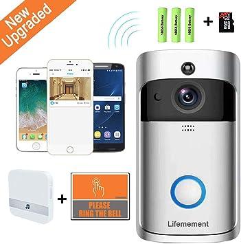 Smart Video Wireless WiFi DoorBell HD 720P IR Visual Camera Home Security System