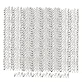 uxcell 500Pcs AWG 16-14 U Shape Cold Naked Terminals Crimp Non-Insulated Fork SNB2-4S