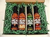 Cheap Thrill Hot Sauce 4 Variety Gift Set Collection, Habanero, Cayenne, Garlic Habanero, and Jalapeno