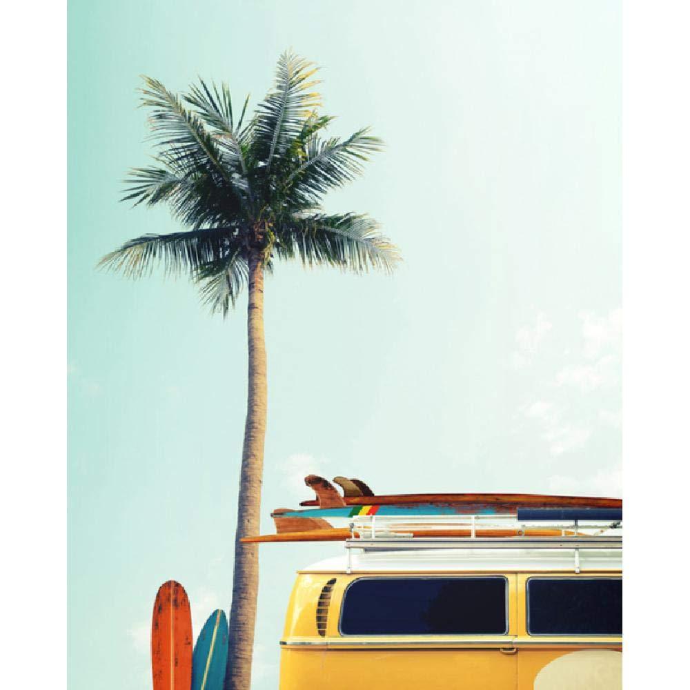 SCLPOSTER Cartel Surf Lienzo Pintura Árbol de Coco Imágenes ...