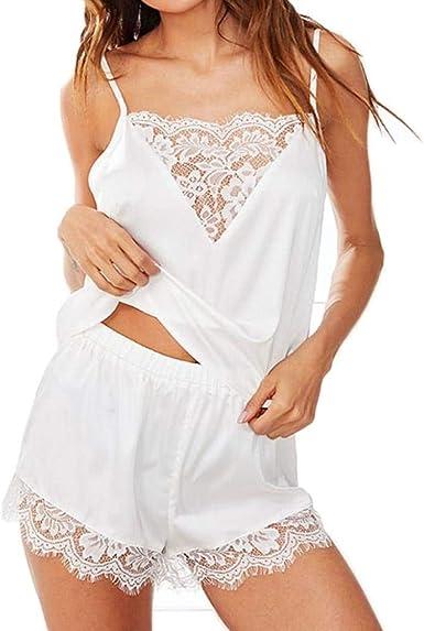 Conjunto De Pijama Mujer Verano Satín Pijamas Mujer Camisola ...