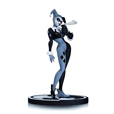 Batman Mad Love : Harley Quinn Black & White Statue Bruce Tim: Toys & Games