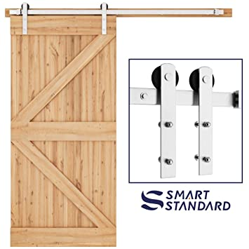 Amazon Com Smartstandard 6 6ft Nickel Brushed Heavy Duty Sliding