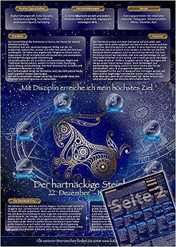 Sternzeichen Steinbock Die Horoskop Und Charakter Karte Fur