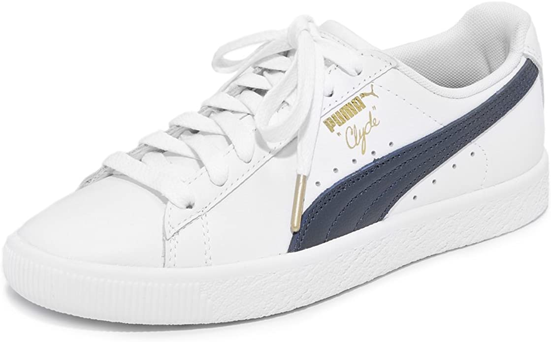 PUMA Womens Clyde Core Leather Low Top
