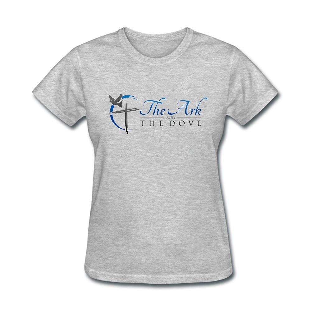 Tee Center The Ark and The Dove Tee Shirts Womens Round Collar
